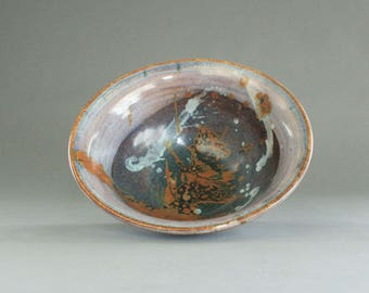 Splatter Glaze Ceramic Serving Bowl