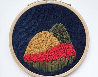 "embroidery hoop ""tuscany landscape"""