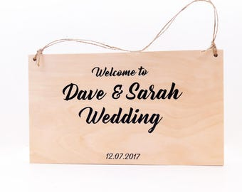 Simple Wedding wood Reception Sign, Welcome Wedding Sign, Wedding Signage, Ceremony Sign, Welcome Reception Sign
