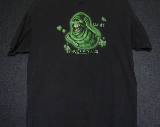Ghostbusters Slimer Glow in the Dark 1984 vintage Tshirt
