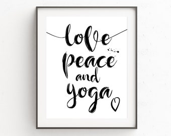Yoga Poster, Yoga Wall Art, Yoga Bedroom Decor, Yoga Wall Posters, Yoga Art For Gift, Instant Downloads, Wall Art Prints, Yoga Art For Home
