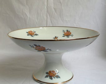 Limoges porcelain Compote / Deco / flat service / french former display / gift woman / table decoration / cake kitchen