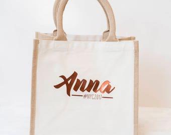 Tote bag, Jute bag, Bridesmaid bag, Personalized tote bag, bridesmaid gift