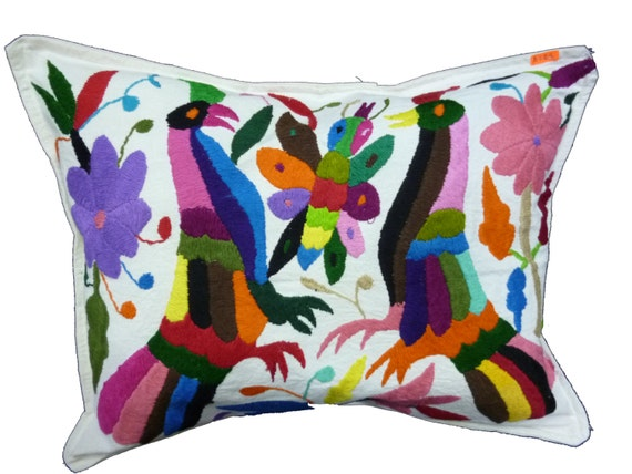 Mexico pillow cover Mexican embroidered pillow case