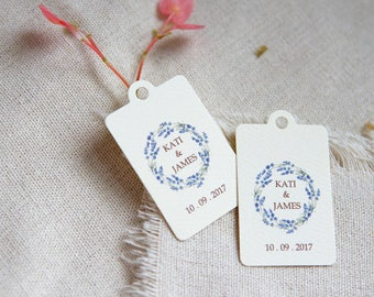 Personalized Gift Tags - Lavender favor tag - Wedding favor tag - Shower favor tag - Party tag - Thank you tag - lavender wedding