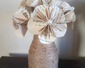 Book paper flowers, Paper flowers, Valentines day flowers,Paper flower bouquet, mini paper flowers, Book flowers, flower bouquet