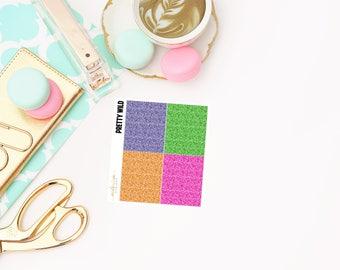 Pretty Wild Glitter Headers, planner stickers