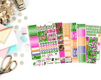 Pretty Wild Deluxe Kit, planner stickers