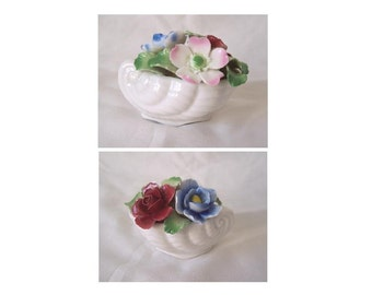 Shell of Porcelain Flowers by Aynsley China c.1970