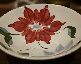 Vintage Blue Ridge Pottery Petal Point Serving Bowl/ Pattern #4074