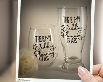 This is my wedding planning, Glass set, trending, trending now, fast shipping