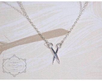 Silver Scossors Necklace, Hairdresser Necklace, Charm Necklace, Birthday, Hairdresser Gift, Valentines Day, Mothers Day, Tailor Jewellery