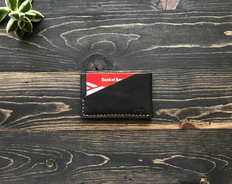Minimal wallet, Thin card holder, Thin Card Wallet, Thin Leather Wallet, Front Pocket Wallet