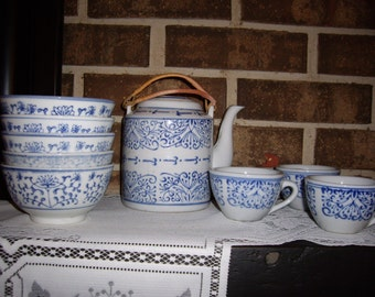 Asian Tea Set w/Mini Tea Pots