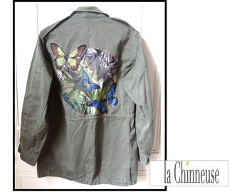MILITARY jacket / jacket customized French army.