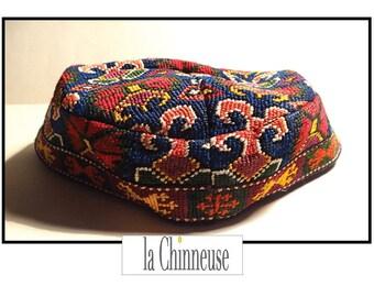 ANTIQUE Uzbek HAT / Cap traditional Uzbek / ethnic hat, Central Asia.