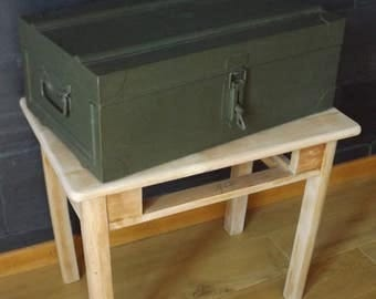 Vintage metal military box / Collection: French army / military old furniture