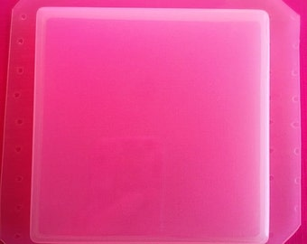 Square Coaster or Large Tile Flexible Plastic Mold For Resin Crafts Clay