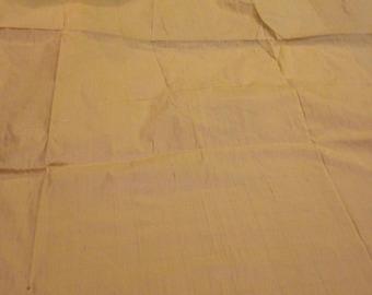Pale Yellow Silk Dupioni