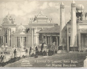 Postcard c1905, Mogul Egyptian Cigarettes, Corner of Liberal Arts & Mining Building