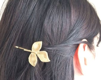 Gold Leaves Bobby Pins - Gold Leaf - Hair Pin - Hair Clips - Hair Accessories - Wedding Hair - Wedding Jewelry - Gold Jewelry - Gift for her