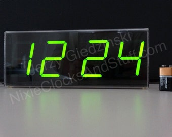 3-inch digit 7-segment dimmable LED Clock