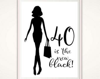 40th Birthday Print - 40th Birthday PRINTABLE,  40th Birthday Gifts for Women, Gift Print For Her, 40th Birthday Art, Gift for Her, Fortieth