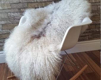 Large Luxury  genuine Swedish Gotland Sheepskin Rug / Throw / Fur
