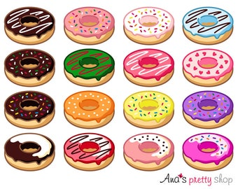 Donuts clipart | Etsy | {Französische küche clipart 89}
