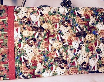 Puppy Christmas Pillowcase