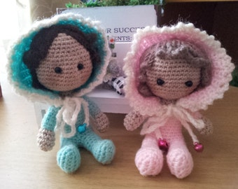 Miniature doll 9 cm, collection of toys, decorations. // Crochet Doll // Handmade