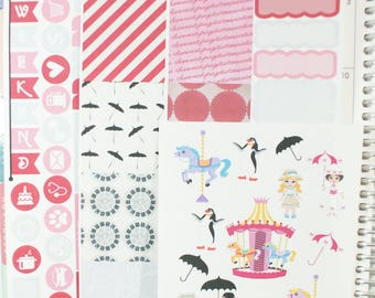 Spoonful of Sugar HORIZONTAL Sampler Kit-ECLP Planner Stickers (NF193) High Gloss, Semi-Gloss, Matte Planner Stickers