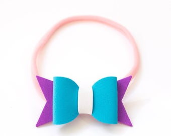 Bow hair rubber band