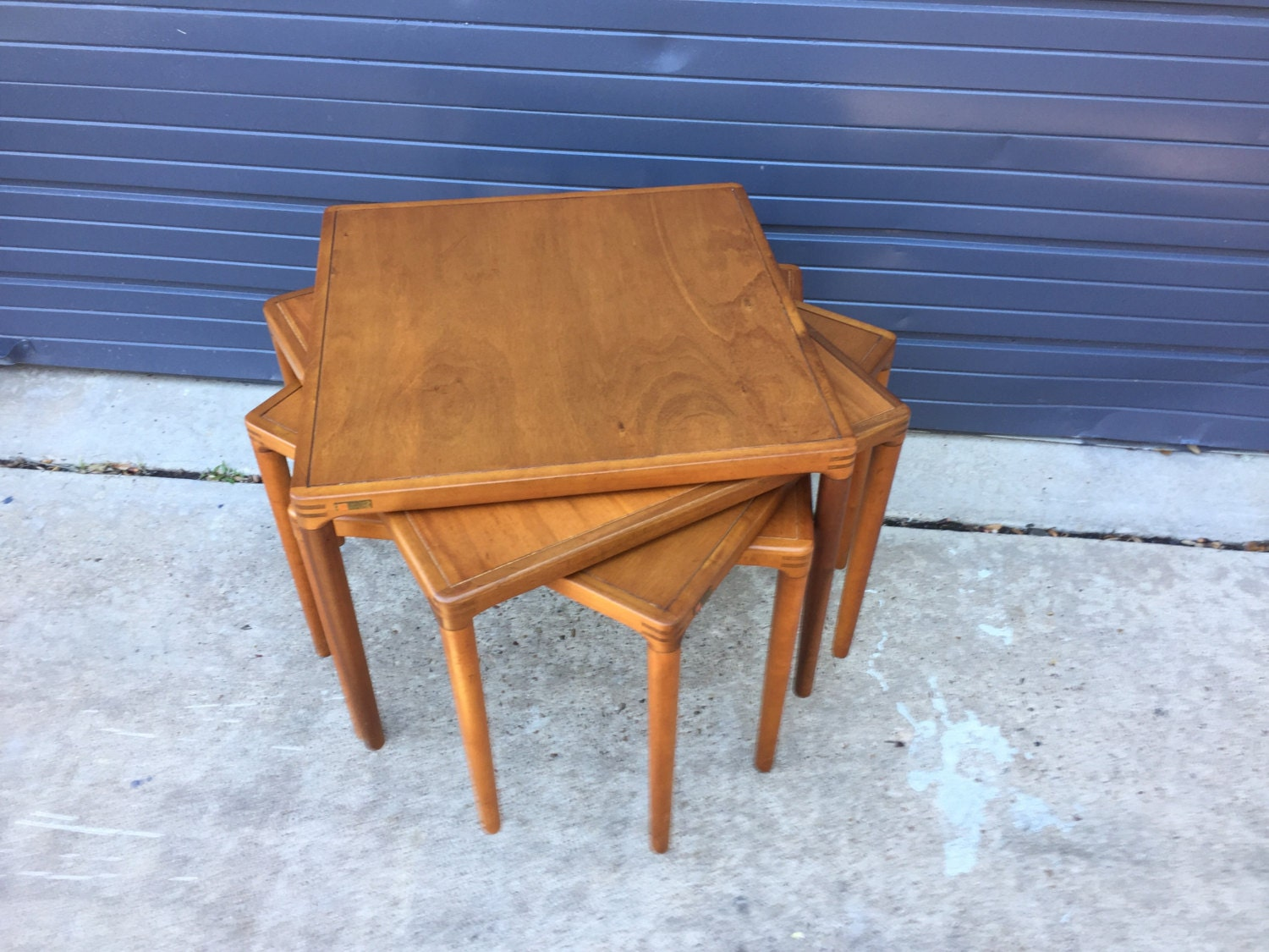 Set of four mid century side tables made by muebles for Muebles roldan