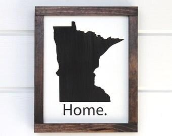 Minnesota Wood Sign, Minnesota Home Sign, Minnesota Gifts, MN Art, Wooden State Sign, Minnesota Sign, MN Home