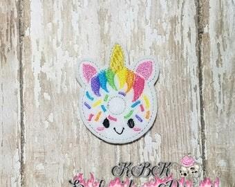 INSTANT Download Unicorn Donut Embroidery Feltie Design