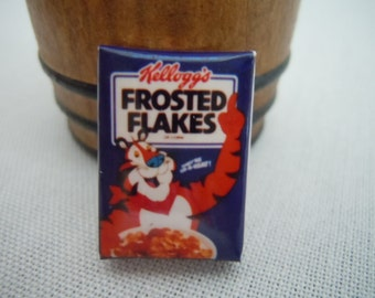 Miniature Box of Cereal ~ Frosted Flakes ~ Food ~ Kitchen ~ Cereal Box ~ Miniature ~ Fairy garden ~ Dollhouse ~ Terrarium ~ Accessories