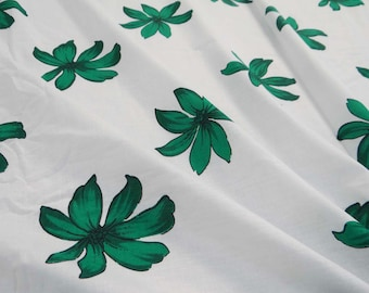 """Dressmaking Fabric Cotton Fabric For Sewing Designer Floral Printed White Fabric Pure Cotton 42"""" Wide Sewing Crafting By The Yard ZBC6184"""
