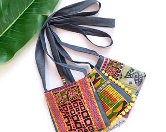 Tribal purse, African purse, boho bag, cross body purse