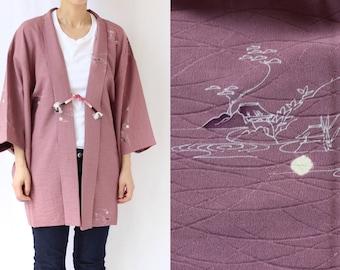elegant silk kimono, kimono jacket, Haori, traditional kimono, kimono haori, haori jacket, women's kimono top, kimono coat /1473