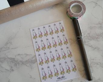 24 Traveling Unicorn Stickers
