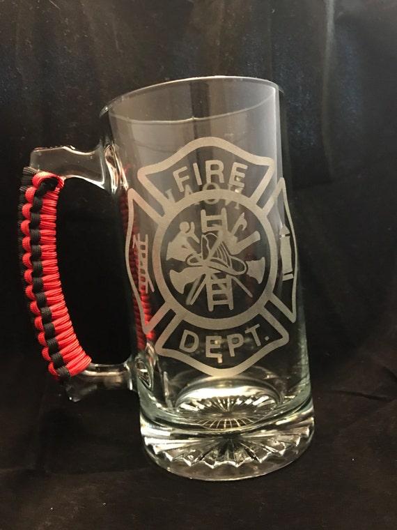 Firefighter Beer Mug Groomsmen Gift Personalized Mug With