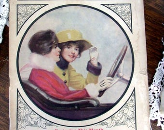 October 1916 Modern Priscilla Magazine, Reference Book, Vintage Advertising, Edwardian Ads, Old Graphics, Vintage