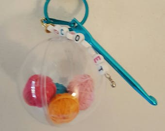 Crochet Hook Keychain / Ultimate Crochet Emergency Survival Kit / Ornament / Gift and More