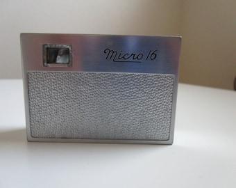 Vintage Spy Camera - Micro 16 Subminiature Spy Camera 1940s Made in USA Whittaker
