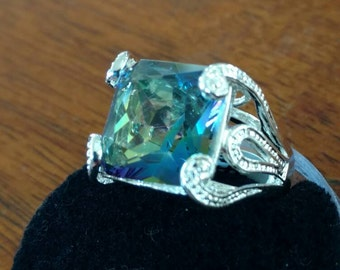 Mystic Topaz Party Ring, Size 7.5