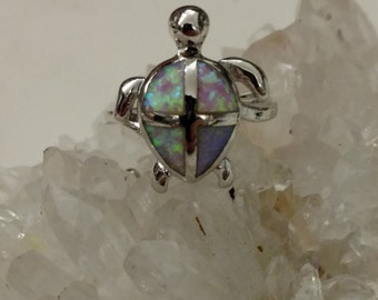 Turtle Opal  Ring, Size 8