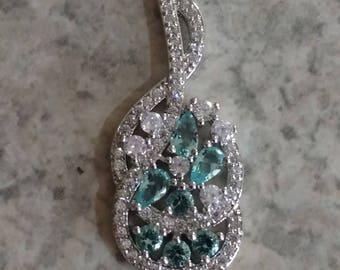 CLEARANCE *Beautiful Blue Topaz Pendant Necklace