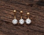 belly ring belly button ring belly button jewelry zircon short bar 6 8 10 mm