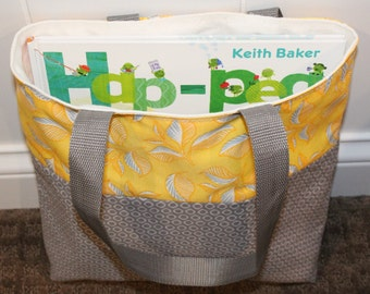 Toddler Activity Tote Yellow and Gray